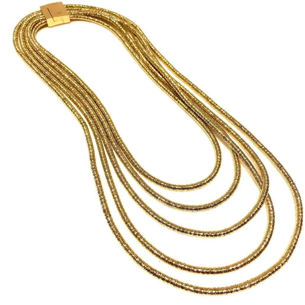 professionale codice coupon prezzo basso Collana lunga multifilo oro