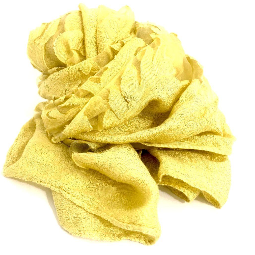in vendita 6332e 504da Stola gialla lavorata