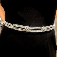 nuova collezione prodotti caldi davvero economico Cintura metallo intrecciato argento - Negozio Online Coco