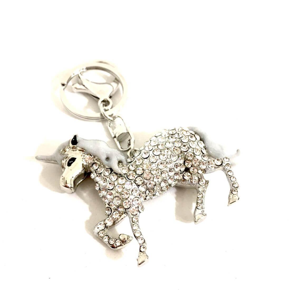 unicorno portachiavi  Portachiavi unicorno argento - Negozio Online Coco