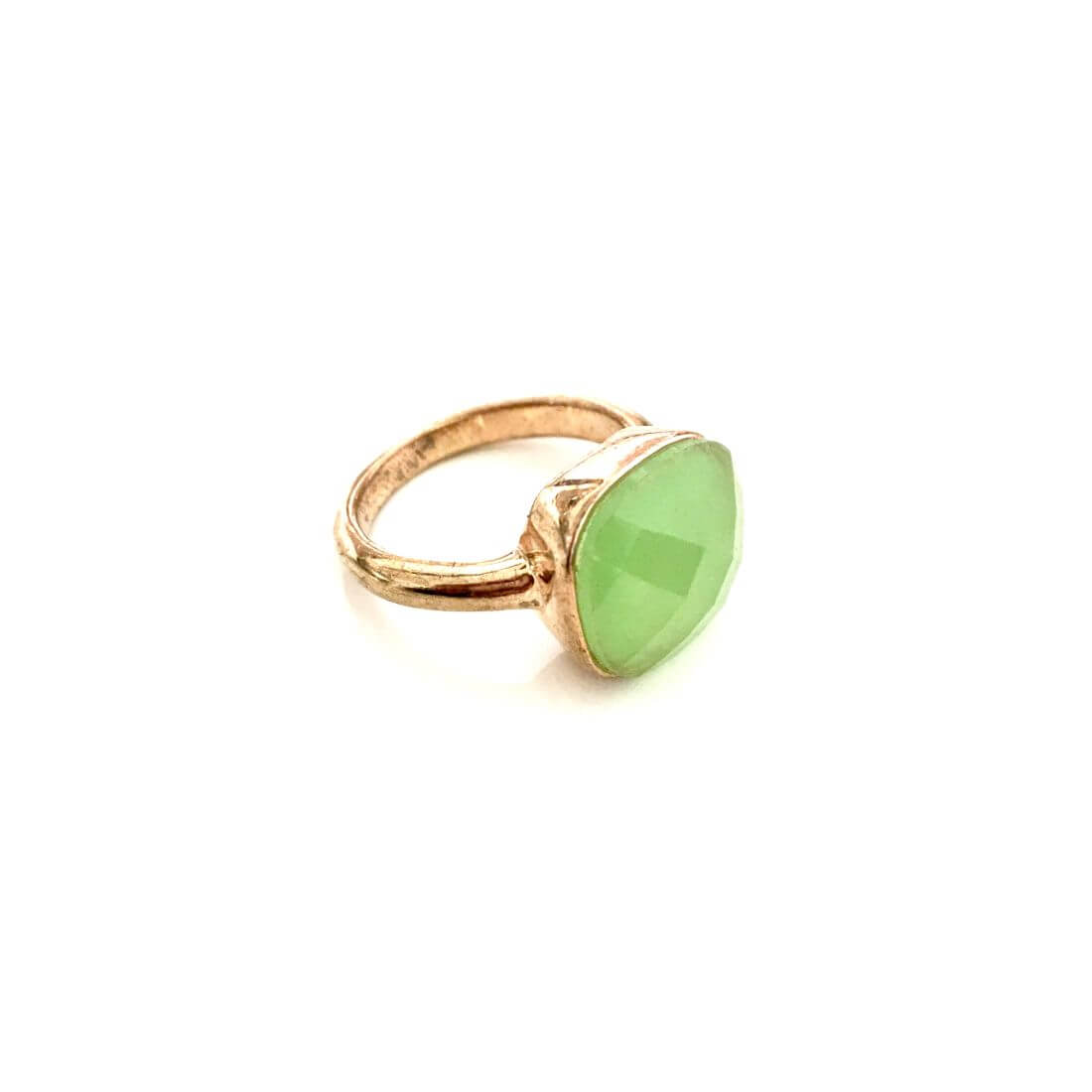 nuova collezione 28f76 1b996 Anello con pietra verde chiaro